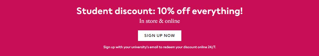H&M UAE Student Sale